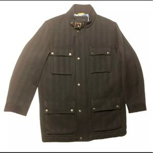 Tommy Hilfiger Tailored Long Wool Field Coat Med